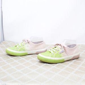 Superga Sneakers Pink Green Size 6.5 Tye Tie Dye